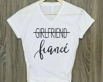 fiance shirt, white, engaged AF, wifey shirt, engagement shirt, engaged top, bridal gift, bride gift, wedding gift, bridal shower gift
