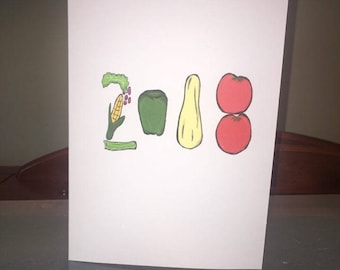 Vegetable 2018 New years card