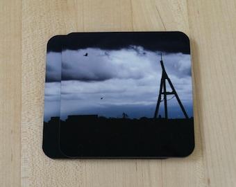 Set of 4, Photo Coaster, Cork Bottom