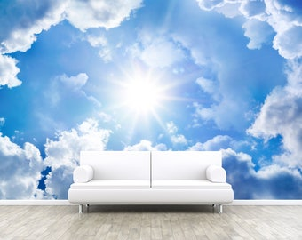 wolke tapete etsy. Black Bedroom Furniture Sets. Home Design Ideas