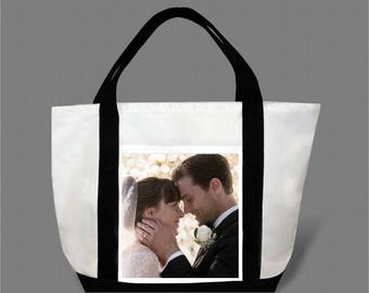 Dakota Johnson Jamie Dornan Canvas Tote Bag #0020