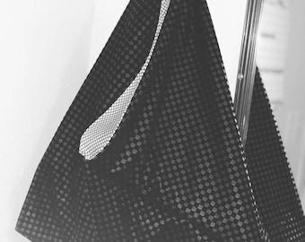 Black on black check rock n roll bento bag