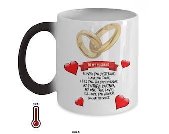 TO MY HUSBAND Amazing Color Changing Mug!