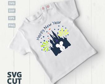 Mickey Minnie Disney Castle SVG, Mickey Mouse SVG, Disney Castle Mickey, Disney Castle svg, Disney SVG, kids shirt svg new year disney svg