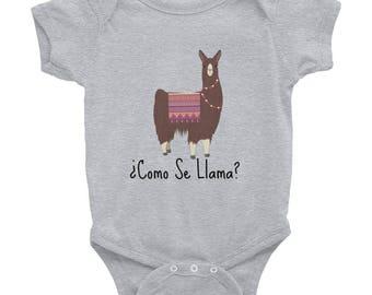 Como Se Llama, Funny Llama Infant Bodysuit