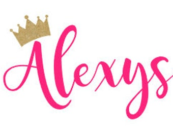 Name decal with crown
