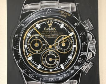 Rolex, Stainless Black Face,  Daytona Watch