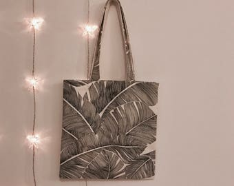 Tote bag - foliage print-
