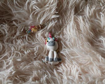 Unicorn with vial necklace