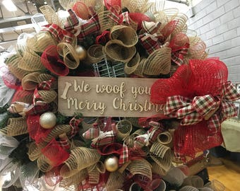 We Woof you a Merry Christmas Wreath