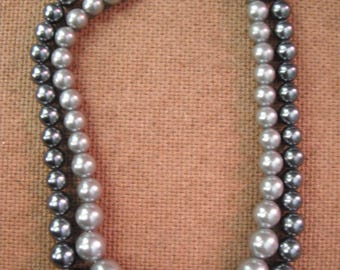 Vintage Faux Pearls Double strand