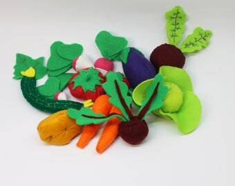 Set Felt Vegetables Toys Gift Colorful