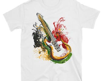 Electric guitar retro - short sleeve t-shirt