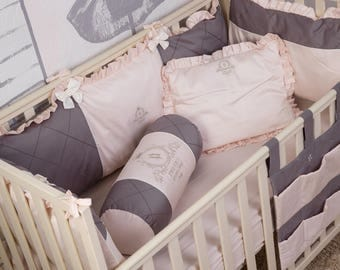 "Bed linens for newborns ""Vivien"""