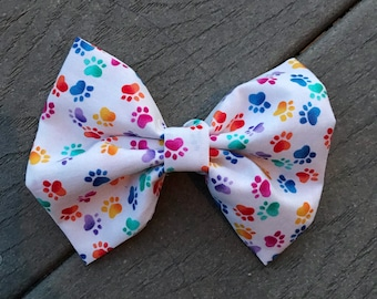 Colorful Paws Bow Tie