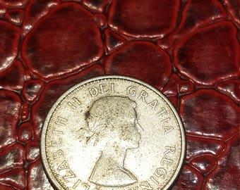 1961   Canada 10 Cent Dime Silver Coin