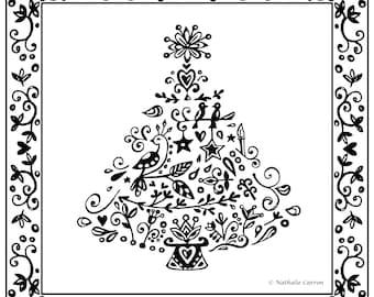 card - black and white - Wondertree
