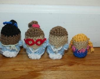 "Waitress the musical crochet ""pocket pal"" doll"