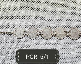 Raw Bracelet 5 Coins of 1 peso