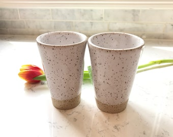 Tumblers // Set of 2 // Handmade // Pottery