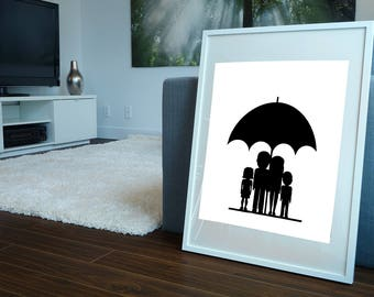 One Family Portrait Poster 8x10 Downloadable, Art Decor