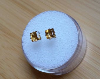 Citrine earrings 4mm