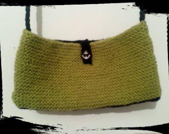 Wool shoulder bag