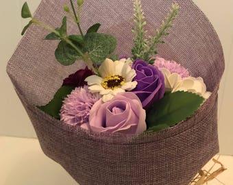 Stunning Purple Soap Flower Bouquet