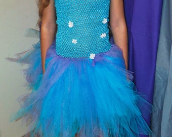 Blue /violet tutu dress size 10-12 years
