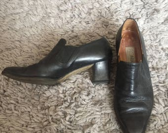 Vintage Leather Ankle Booties