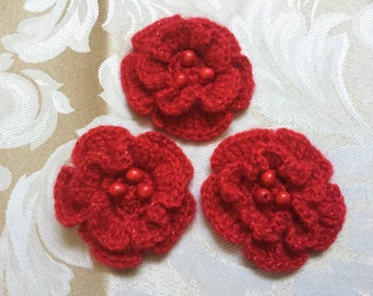 Flower Brooch with Beads