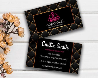 Paparazzi Business Cards, Free Personalized, Paparazzi Jewelry Consultant Card, Home office approved, Consultant Luxury Card
