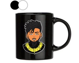 Hey Auntie, Black Panther Mug, Erik Mug, Erik Hey Auntie, Mug With Saying, Perfect Gift, Mugs For Men, Mugs Pottery, 11oz/15oz, Black/white