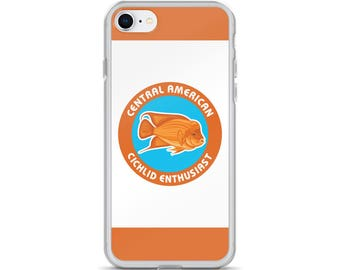 Aquarium Fishkeeper iPhone Cases - Cichlid Lover Gift - Central American Cichlid - iPhone Cases