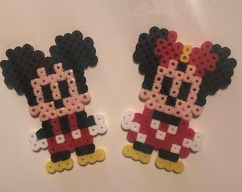 Mickey Mouse and Minnie Mouse Perler Beads
