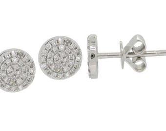 Round Diamond Stud Earrings 14k Gold - 0.17 Ct.