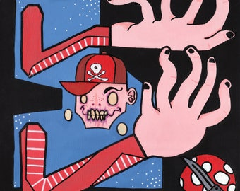 Original Super Mario Bros Lowbrow Nintendo Art Acrylic Painting