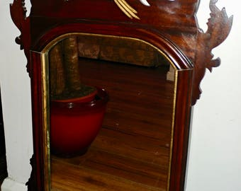Stunning George III Chippingdale fret Wall Mirror C1812-1820