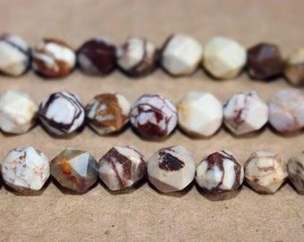 Australian Zebra Jasper  faceted stars cut nugget beads 6mm 8mm 10mm 12mm ,loose beads,semi-precious stone,15 Inches Full strand