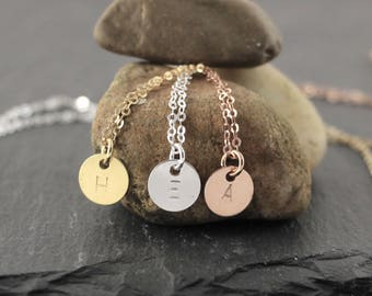 Initial chain-925 sterling silver-personalizable
