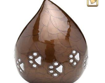Tear Drop Dog Urn (Bronze)