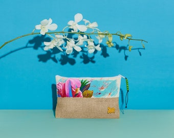 Flamingo Handpainted Summer Pouch | Handmade from the Philippines