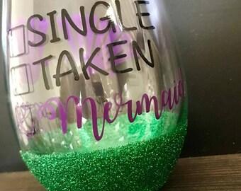Custom Glitter Wine Glasses