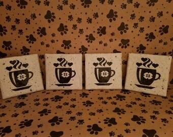 Granite-Looking Coffee Coasters