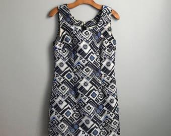 60s Mid-Century Hawaiian Mini Dress - Size Medium
