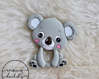 Koala Teether | Silicone | Sensory | Teething | Baby | Grey | Neutral