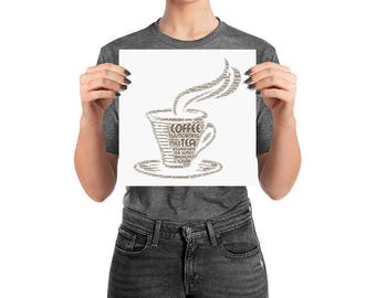 Coffee sign word cloud Poster