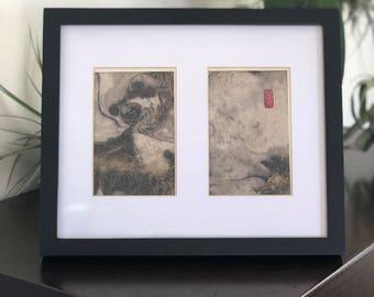 Squid - Japanese Sumi Ink Art