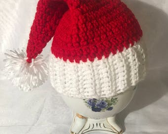 Hand Made Crochet Santa Christmas Hat Beanie (For 2Year Old)