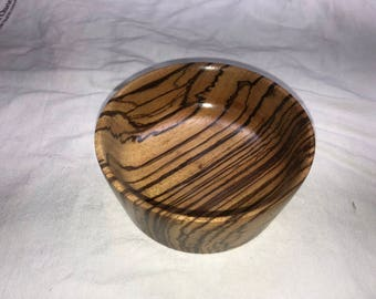 Zebra wood bowl